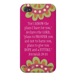 Jeremiah 2911 Scripture iPhone Prosper Hope Future Case For The iPhone 4