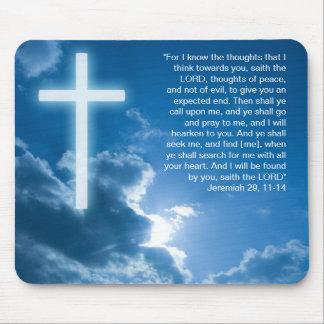 Jeremiah 29; 11-14 - Christian Mousepad