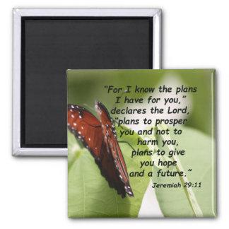 Jeremiah 29:11 (2) square magnet