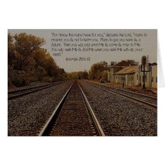 Jeremiah 29:11.  5x7 Card