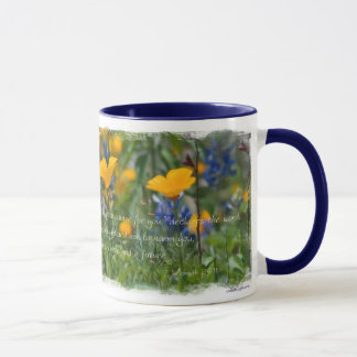 Jeremiah 29:11 California Poppy Mug