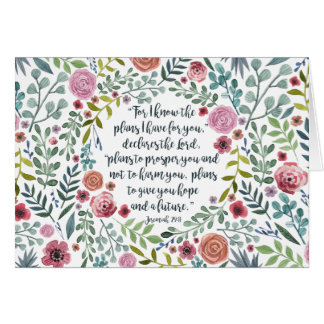 Jeremiah 29:11 card