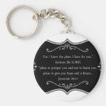 Jeremiah 29:11 Custom Christian Gift Basic Round Button Keychain