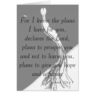 Jeremiah 29:11 Graduation Card