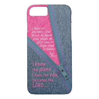 Jeremiah 29:11 I Know The Plans Denim Zipper Pull iPhone 7 Case