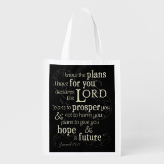 Jeremiah 29:11 I know the plans I have for you... Reusable Grocery Bag