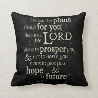Jeremiah 29:11 I know the plans I have for you... Throw Pillow