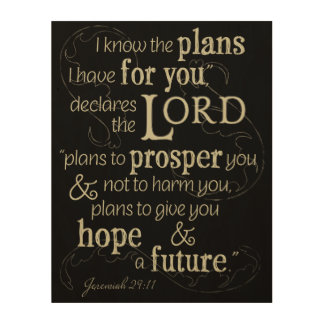 Jeremiah 29:11 I know the plans I have for you... Wood Print