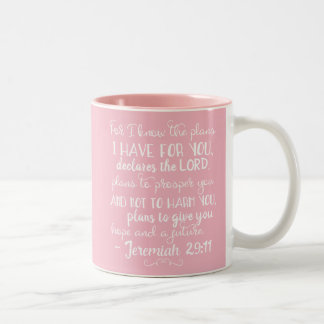 Jeremiah 29:11 Inspirational Christian Bible Mug