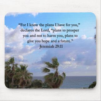 JEREMIAH 29:11 INSPIRATIONAL VERSE MOUSE PAD