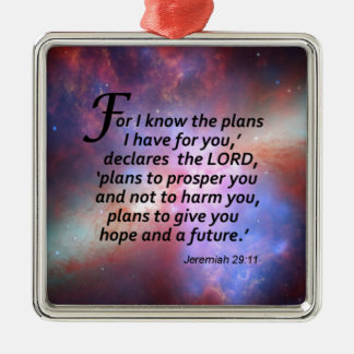Jeremiah 29:11 metal ornament