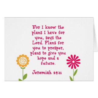 Jeremiah 29:11 Notecard