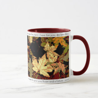 Jeremiah 29:11 Original Leaf Mosaic Photo Art Mug