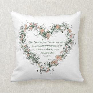 Jeremiah 29:11 Polyester Throw Pillow