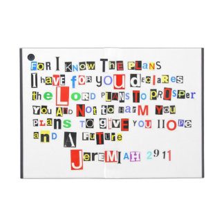 Jeremiah 29:11 Ransom Note iPad Mini Cover