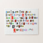 Jeremiah 29:11 Ransom Note Style Jigsaw Puzzle