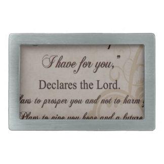 Jeremiah 29:11 Scripture Gift Belt Buckles