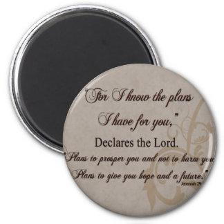 Jeremiah 29:11 Scripture Gift Magnet