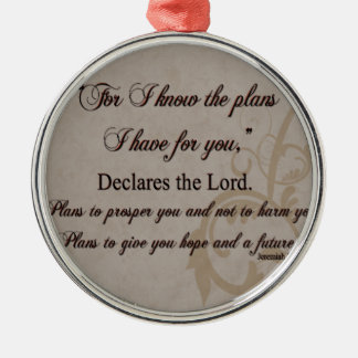 Jeremiah 29:11 Scripture Gift Silver-Colored Round Ornament