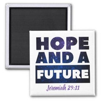 Jeremiah 29:11 Square Magnet