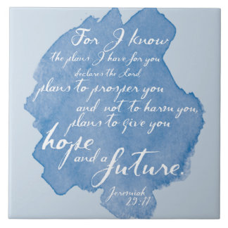 Jeremiah 29:11 Tile Art, Bible Verse Home Decor