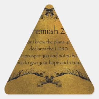 Jeremiah 29:11 triangle sticker