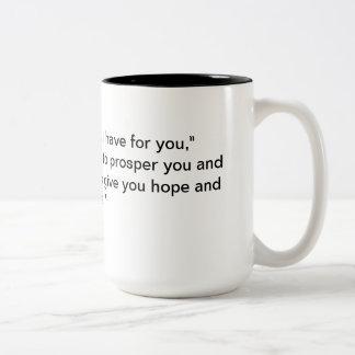 Jeremiah 29:11 Two-Tone coffee mug