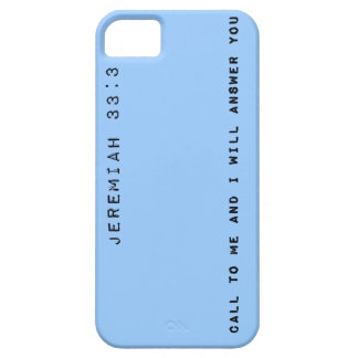Jeremiah 33:3, Customizable Background Color iPhone 5 Case