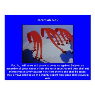 Jeremiah 50:9 postcard