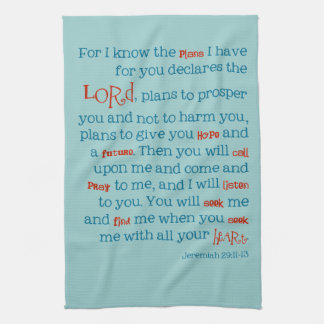 Jeremiah Bible Quote Christian Kitchen Towel Gift