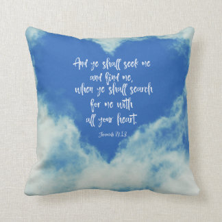 Jeremiah Bible Verse Throw Pillow