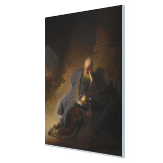 Jeremiah Lamenting the Destruction of Jerusalem Canvas Print
