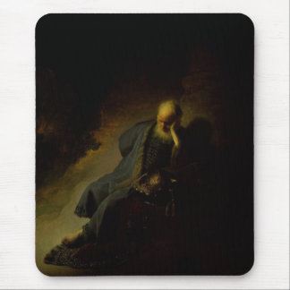 Jeremiah Lamenting The Destruction Of Jerusalem Mouse Pad