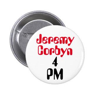 """Jeremy Corbyn 4 PM"" (Prime Minister) Button Badge"