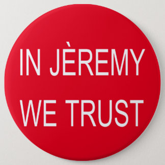Jeremy Corbyn Arsène Badge 6 Inch Round Button