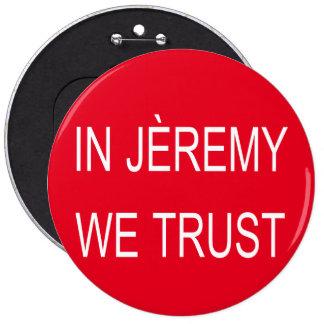 Jeremy Corbyn Arsène Badge 6 Inch Round Button