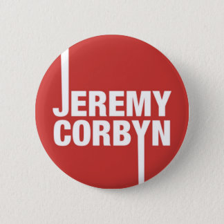 Jeremy Corbyn Button Badge Labour Party Leader