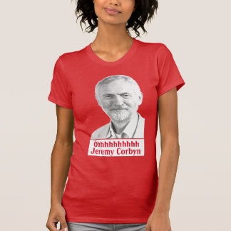 Jeremy Corbyn Glastonbury Chant tshirt womens dark