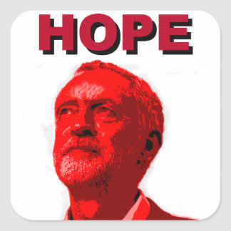 Jeremy Corbyn Hope Square Sticker