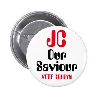 "Jeremy Corbyn ""JC Our Saviour - Vote"" Button Badge"