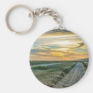 Jericoacoara National Park Dunes Road Basic Round Button Keychain
