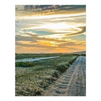 Jericoacoara National Park Dunes Road Letterhead Design