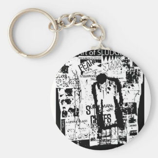 Jerry Atric Stains Tribute by Tracy Otero Basic Round Button Keychain
