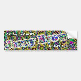 Jerry Brown bumpersticker CA GREAT AGAIN! Bumper Sticker