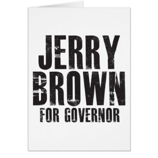 Jerry Brown For Governor 2010 Card