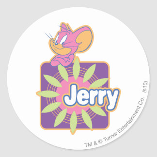 Jerry Neon Mouse Classic Round Sticker