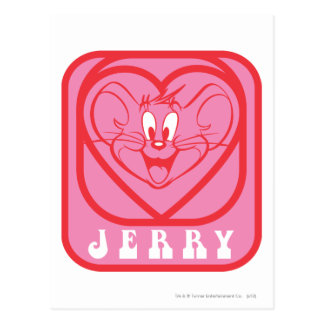 Jerry Pink Hearts Postcard