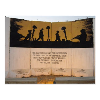 Jersey Barrier Memorial/Garfield Quote Postcard