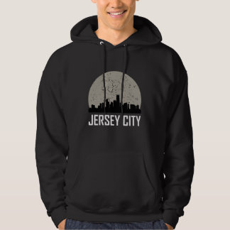 Jersey City Full Moon Skyline Hoodie