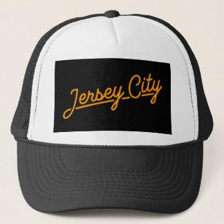 Jersey City in orange Trucker Hat